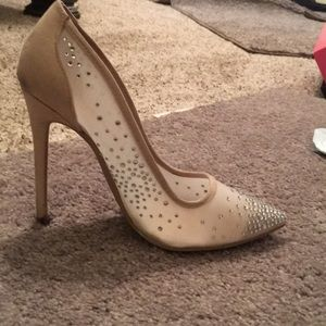 Sparkly Pointed Toe Heels